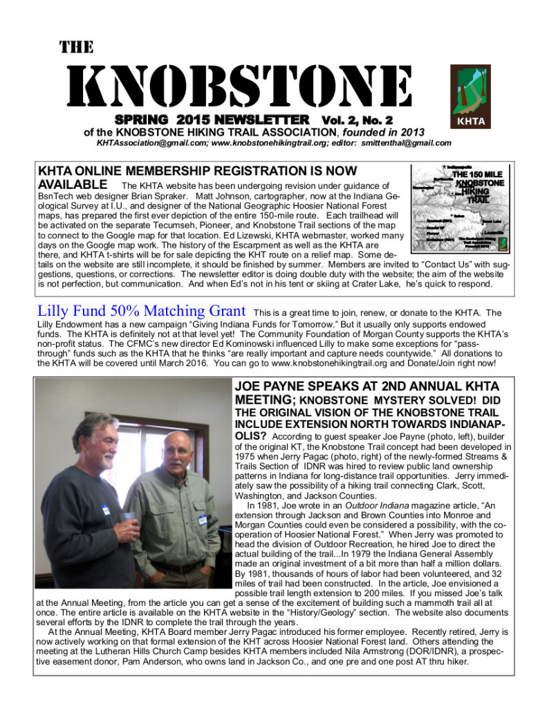 The Knobstone Spring 2015 pg1